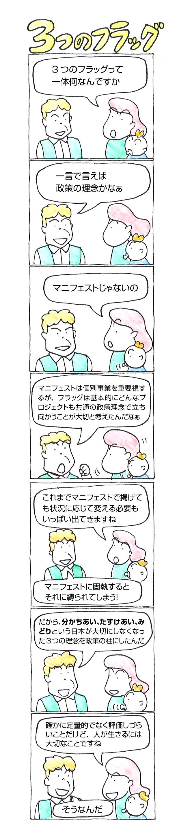 漫画 3つのフラッグ